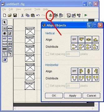 align objects icon on the GUI canvas