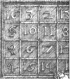 Durer's magic square detail