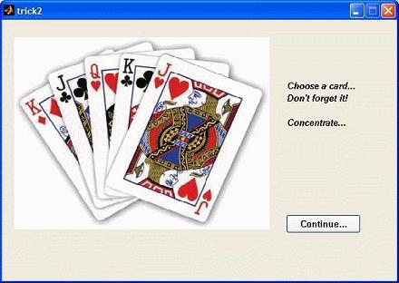 first step in card trick
