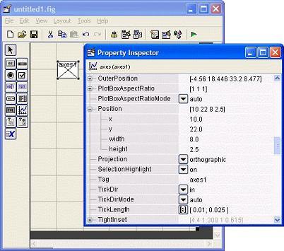 modifying the properties of an axes button